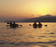 kayak tramontoIsola d'Elba lezione sulla spiaggia